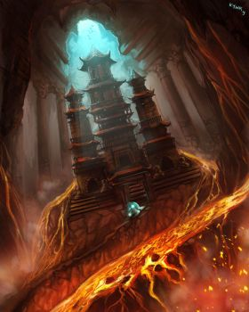 Temple of Fire by kevywk