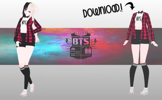 [MMD-BTS ] TDA OUTFIT  ( DL -DOWN) by MeiHatter