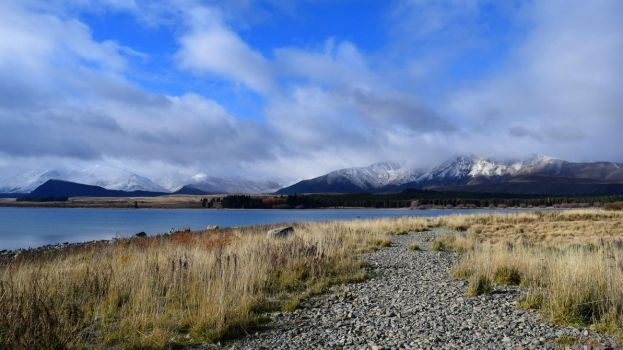 Lake Tekapo Mountains by Renartus