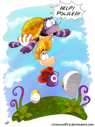Rayman and Tortoise by VivianWolf18