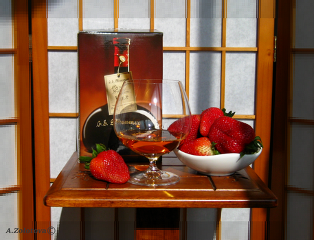 G.E.Massenez and strawberries 2 by AnnaZLove