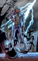 Zombie Joker by Puis Calzada colored by Dany-Morales