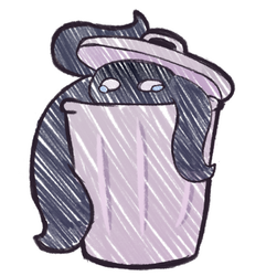 Saddo Trash Bin Monster by MikalaMouse