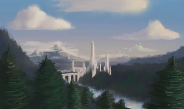Gortham city by CarabARTS