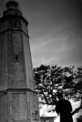Amara Lighthouse B and W by richleigh1975