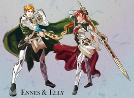 Elly and Ennes as Corrin by Meibatsu