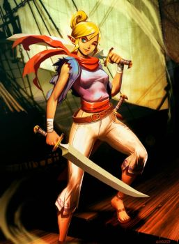 The legend of Zelda - Tetra by GENZOMAN