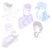 JoJo sketches by EszettB