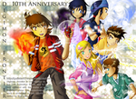 Digimon Frontier: 10th Anniversary by Galistar07water