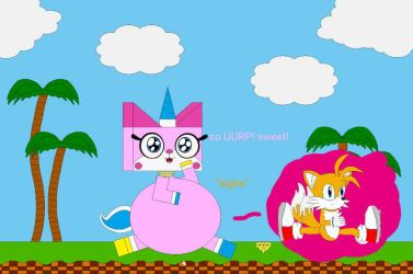 Unikitty's foxy meal by FUNImation2002