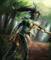 Akali, the Fist of Shadows by 4rca