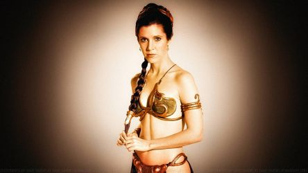 Carrie Fisher Slave Girl Princess XIII Colourized by Dave-Daring