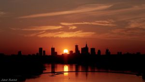 Warsaw sunset by Dunadan-from-Bag-End