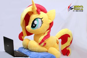 Life Size Sunset Shimmer Plush by nekokevin