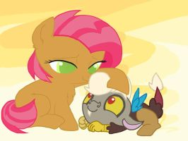 Babs n' Discord by InkieHeart