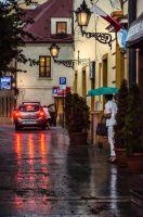 rainy evening by marrciano