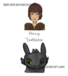Hiccup and Toothless stickers by lightskin