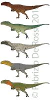 Colour concepts - Carcharodontosaurus saharicus by FabrizioDeRossi