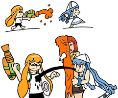 Splatoon and Ika Musume *finished* by Apa5
