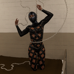 Chains and leather by silverexpress