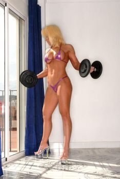 Toning up before the beach by Kyli-Marie