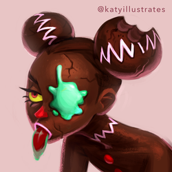 Day 85 - Rotten Gingerbread Girl by katyillustrates