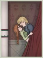 Frozen - Anna and Kristoff - drapes by Lucy--C