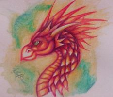 water colour pencil dragon by dianadragon