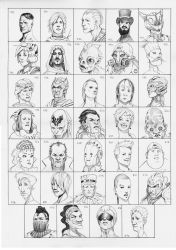 Heads 783-816 by one-thousand-heads