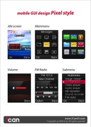 Mobile GUI Design Pixel Style by iCanUI