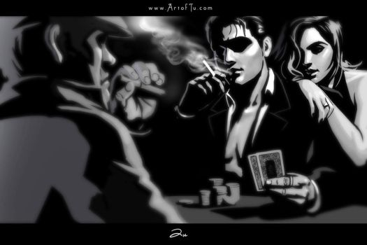 Noir Series: Poker by ArtofTu