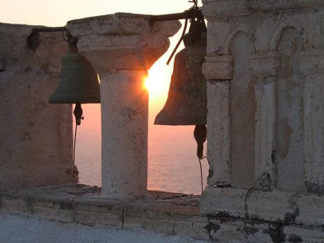 Church bells Santorini sunset by YiansiRoo