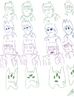 Eddsworld Character Sketch Part 1 by taylorwalls14