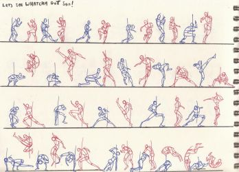 Lets see whatcha got son_fight key poses by AlexBaxtheDarkSide