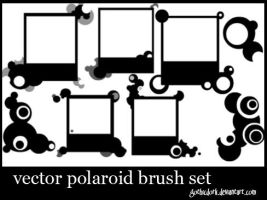 vector polaroid brush set by gothicdork