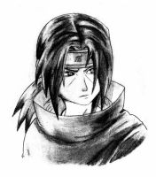 Itachi -serious- by sabrelupe