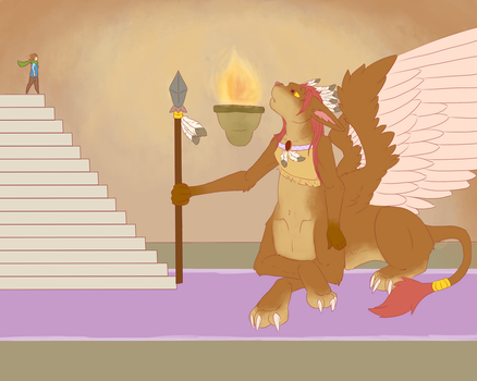 (Contest entry) The riddle of the sphinx by CelCiego