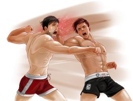 Fighting art by jen-and-kris: fist fight by dave-lon