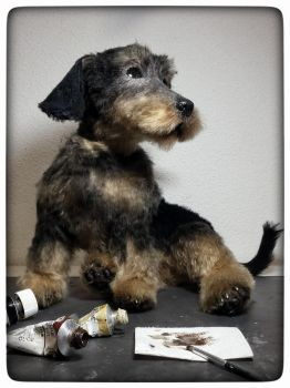 Wire haired dachshund WIP by KALEideaSCOPE