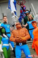 Fantastic Four group cosplay (as Reed Richards) by gomezvsrufio