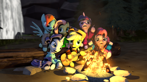 Friends Around the Campfire by ipunchheads