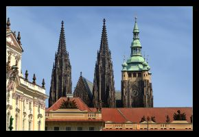 Towers Over Prague Castle by skarzynscy