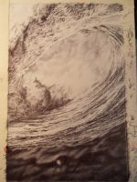 Black And Pink Wave Bic Ballpoint Pen by mscarlett