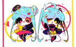 DEVILISH TWIN SISTERS ADOPT AUCTION [CLOSED] by Iy-shu