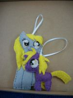 MLP FIM Derpy and Dinky Pony Ornaments by grandmoonma