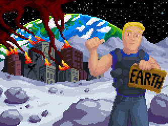 End game screen for the game Blasting Agent by Norrec18