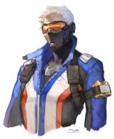 Overwatch - soldier76 by Ramgu