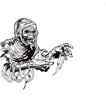 Daily drawing, Jack Davis style mummy by NefariousOrder