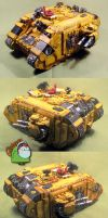 Imperial Fists Land Raider by HomeOfCadaver