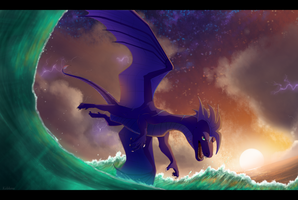 Thunderstorm Waves by Kelskora